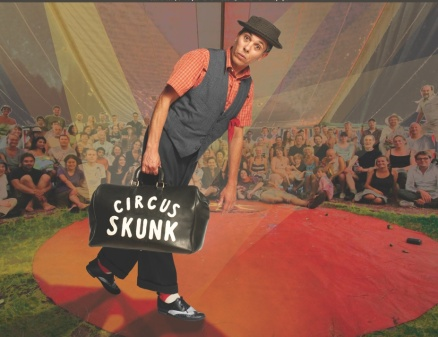 Circus Skunk on stage